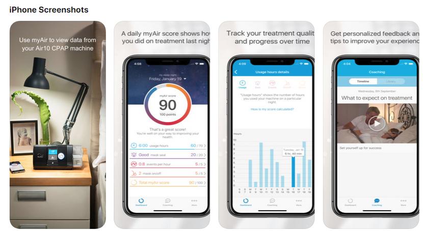 myAir™ - ResMed CPAP- App  now in Canada for ResMed AirSense ™ 10 CPAP,  AirCurve™ 10 Machine.