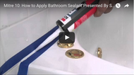Video: How to apply bathroom sealant