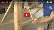 Video: How to build a picket fence