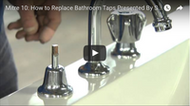 Video: How to replace bathroom taps