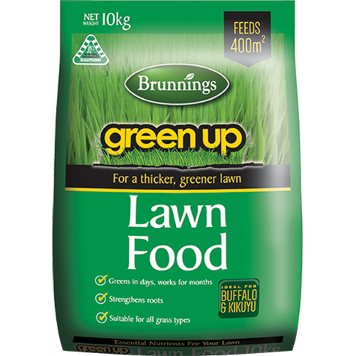 Lawn food green up 10kg brunnings