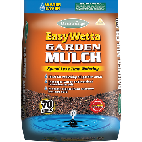 Mulch easy wetta 70lt brunnings