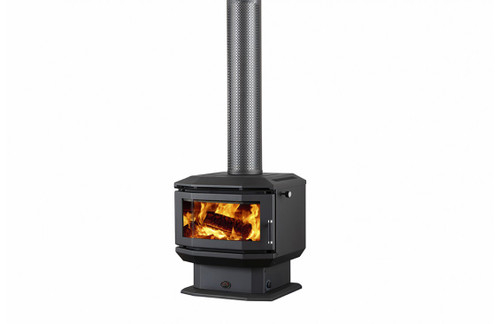 Saxon Walnut Freestanding Wood Heater