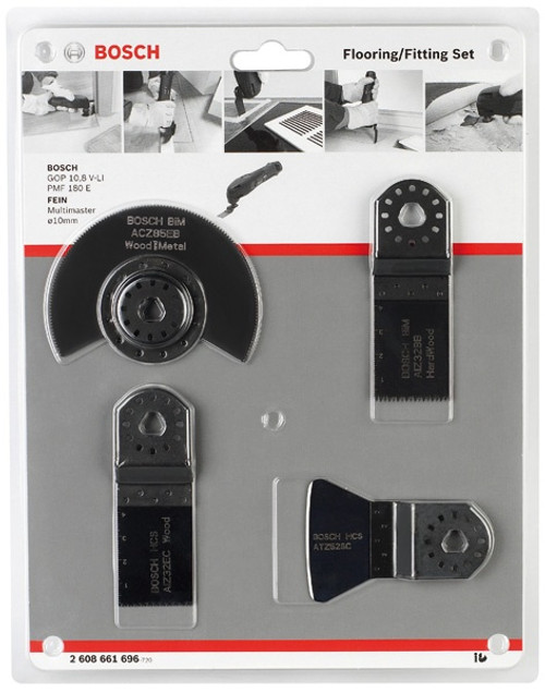 Accessory pack flooring set for multitool