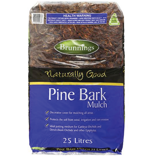 Naturally good pine bark mulch 25l brunnings