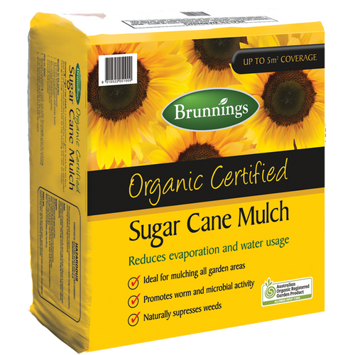 Sugar cane mulch 50lt brunnings
