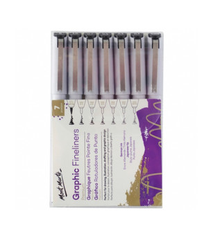 Graphic Fineliners Set 7pc