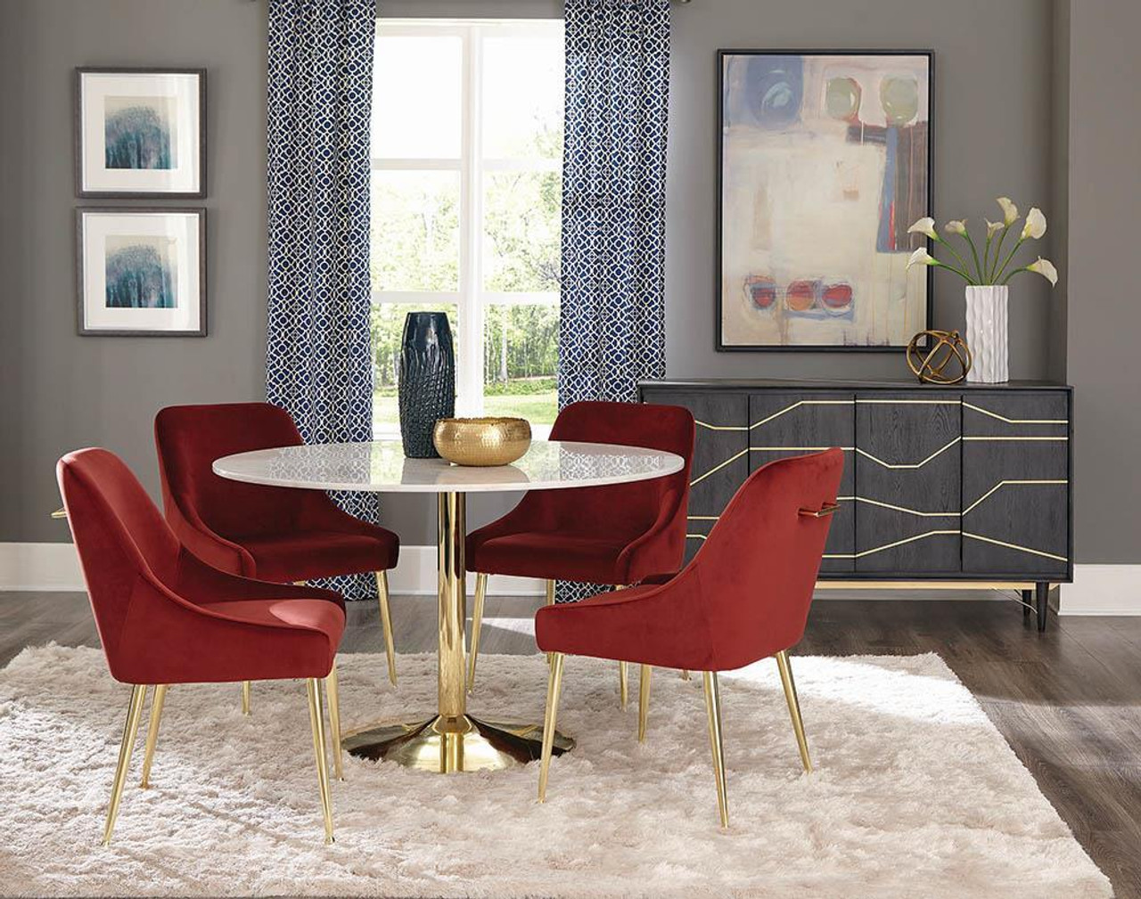 The Kella Round Dining Table Natural Marble And Gold 192061 Available At Jaxco Furniture Serving Jacksonville Fl And Surrounding Areas
