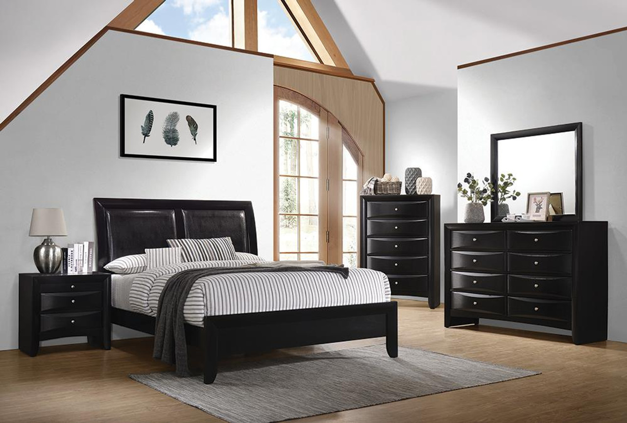 The Briana Black California King Five Piece Bedroom Set 200701kw S5 Available At Jaxco Furniture Serving Jacksonville Fl And Surrounding Areas