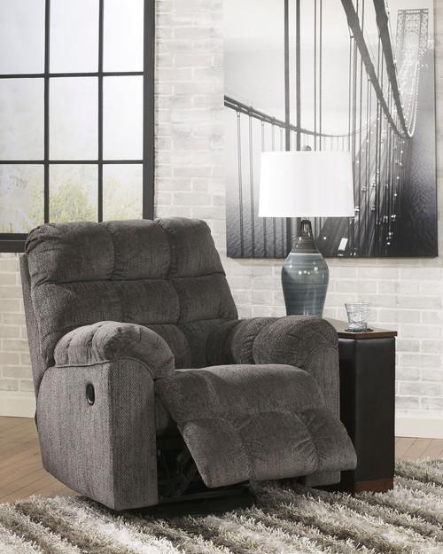 The Acieona Slate 3 Pc. Reclining Sofa with Drop Down Table, Double ...