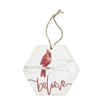 Believe Cardinal - Ornament