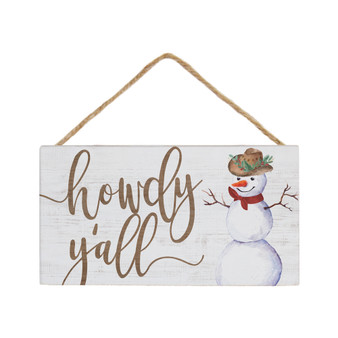 Howdy Y'all Snowman - Petite Hanging Accents