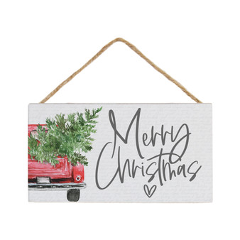 Merry Christmas Truck - Petite Hanging Accents