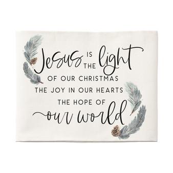 Jesus Is The Light - Pillow Hugs