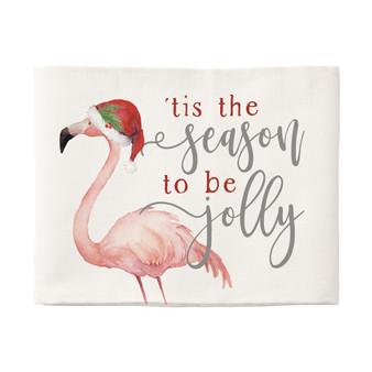 Tis The Season Flamingo - Pillow Hugs