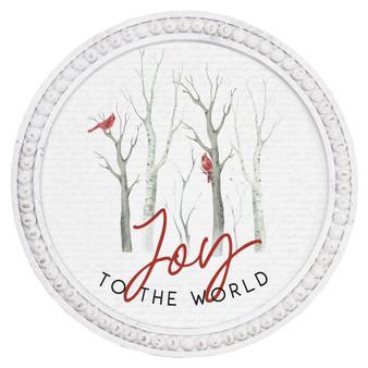 Joy To The World - Beaded Round Wall Art