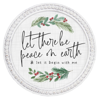 Let There Be Peace - Beaded Round Wall Art