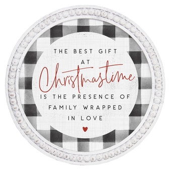 The Best Gift - Beaded Round Wall Art