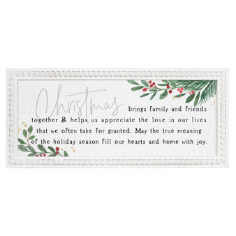 Christmas Brings Family - Beaded Art Rectangle