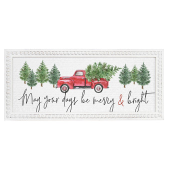 May Your Days - Beaded Art Rectangle