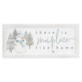 Snowplace Like Home - Beaded Art Rectangle