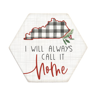 Always Call It Home STATE - Honeycomb Coasters