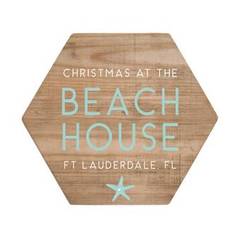 Christmas Beach House PER - Honeycomb Coasters
