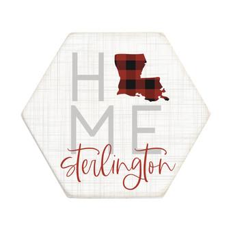 Home Buffalo Plaid PER STATE - Honeycomb Coasters