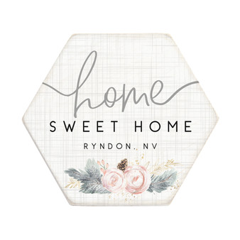 Home Sweet Floral PER - Honeycomb Coasters