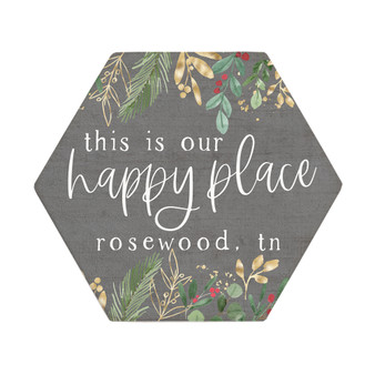 Happy Place Christmas PER - Honeycomb Coasters