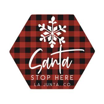 Santa Stop Here PER - Honeycomb Coasters