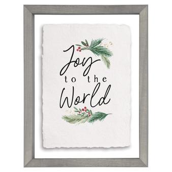 Joy To The World  - Floating Frame Art