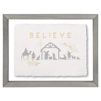Believe Nativity - Floating Frame Art
