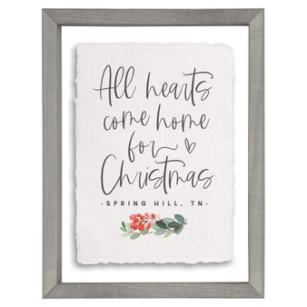 Hearts Come Home Holly PER - Floating Frame Art