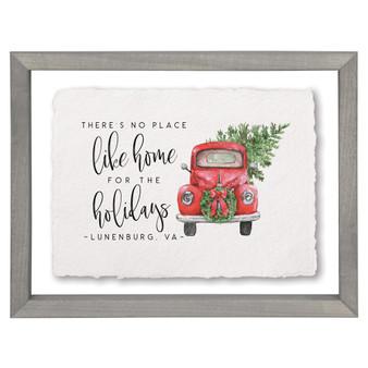 Home Holidays Truck PER - Floating Frame Art