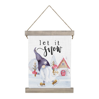 Let It Snow Gnome - Hanging Canvas