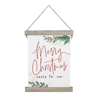 Merry Christmas Holly PER - Hanging Canvas