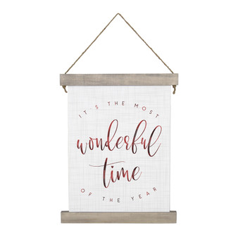 Most Wonderful Time - Hanging Canvas