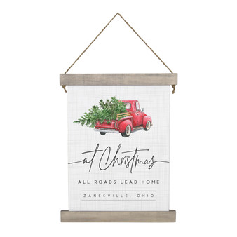 Roads Lead Home PER - Hanging Canvas