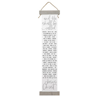 And He Shall Be Called - Long Hanging Canvas