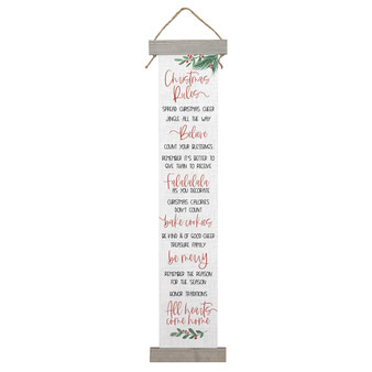 Christmas Rules - Long Hanging Canvas