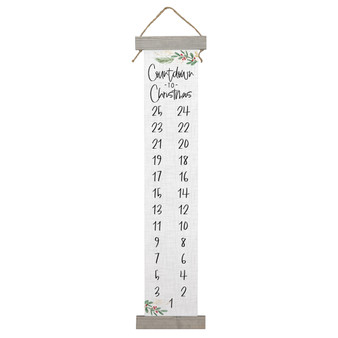 Countdown To Christmas - Long Hanging Canvas