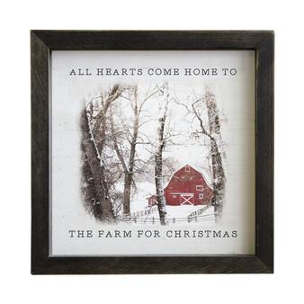 Farm For Christmas - Rustic Frame