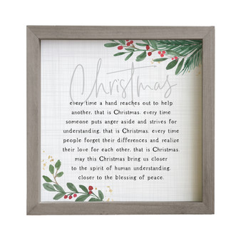 Christmas Every Time - Rustic Frame