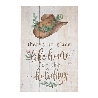 Home Holidays Hat - Rustic Pallet