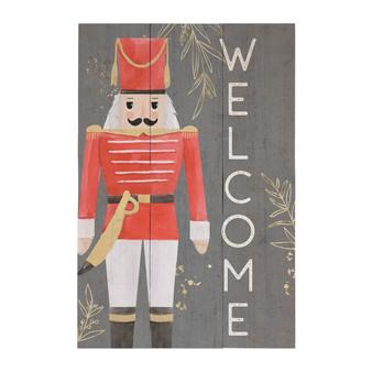 Welcome Nutcracker - Rustic Pallet