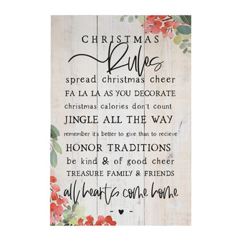 Christmas Rules - Rustic Pallet