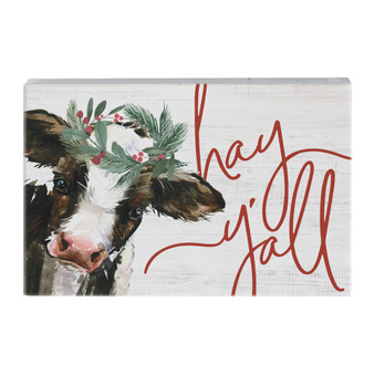 Hay Y'all Cow - Small Talk Rectangle