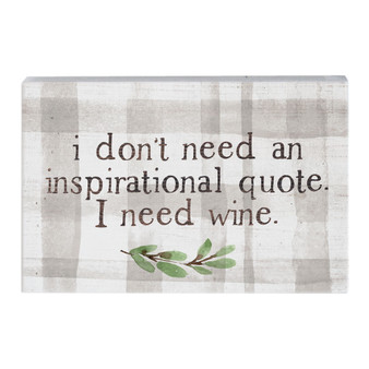In Need Wine - Small Talk Rectangle