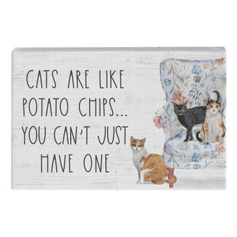 Cats Like Chips - Small Talk Rectangle